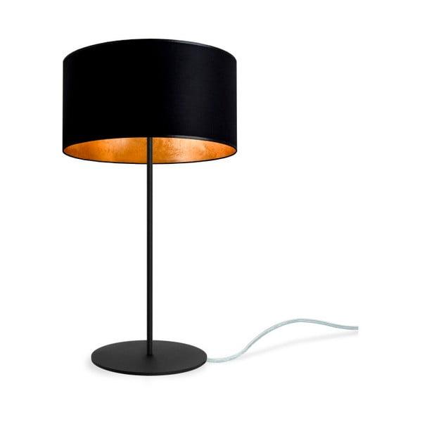 Černo-zlatá stolní lampa Sotto Luce MIKA M 1T