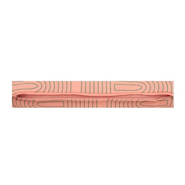 Polštář Retro Grid Peach Pink, 45x45 cm