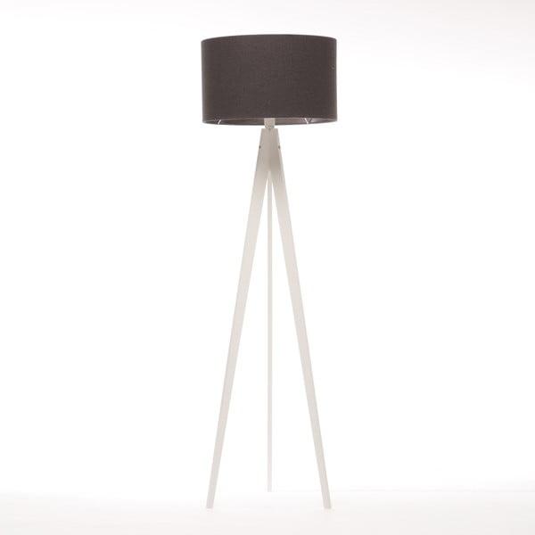 Stojací lampa Artist Dark Grey Felt/White, 125x42 cm