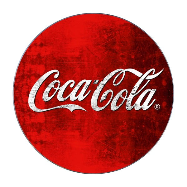 Sklenená podložka pod hrniec Wenko Coca-Cola Classic, ø 20 cm