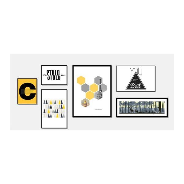 Obraz sømcasa Hexagons, 60 x 80 cm