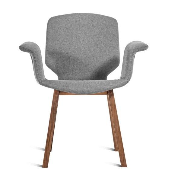 Šedá židle Charlie Pommier Tea