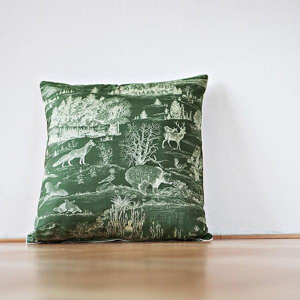 Polštář s výplní Dark Green Forest, 50x50 cm