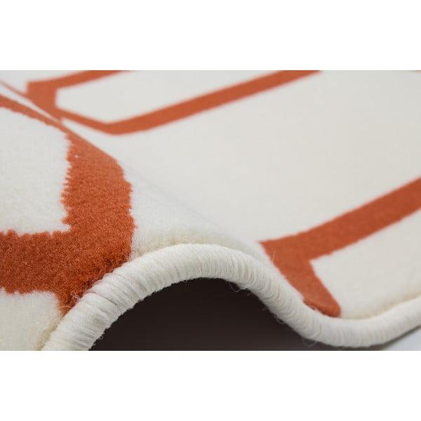 Oranžovo-šedý koberec Kayoom Stella 400 Orange, 160x230cm