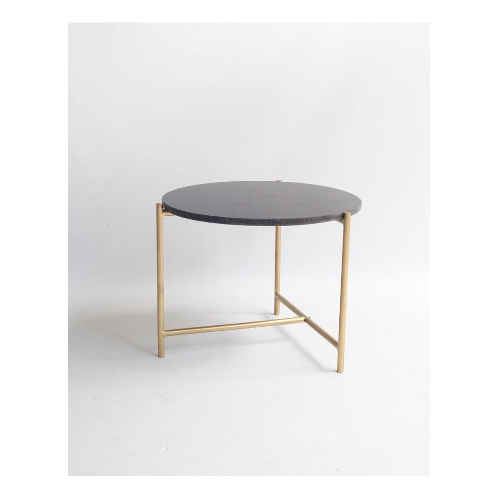 Konferenční stolek s černým mramorovou deskou Velvet Atelier, Ø 50 cm