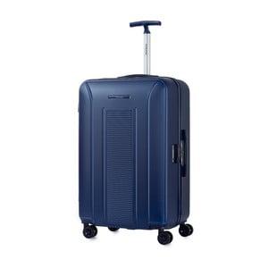 Modrý kufr na kolečkách Murano, 75 x 46 cm
