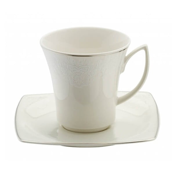 Zestaw 6 porcelanowych filiżanek ze spodkami Kutahya Millio
