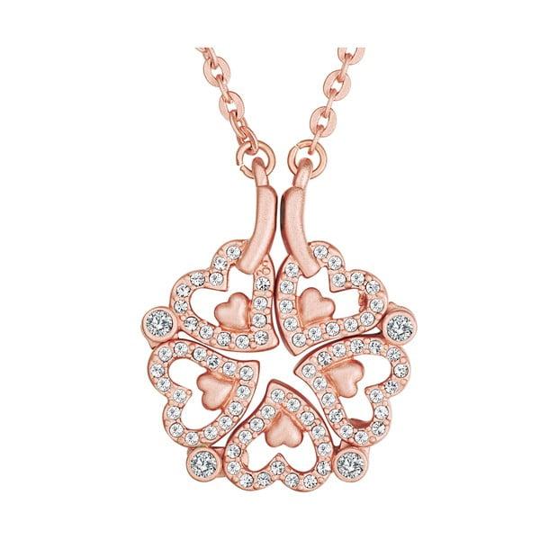 Náhrdelník se Swarovski Elements Heart Rose