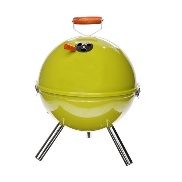 Stojací gril BBQ, zelený