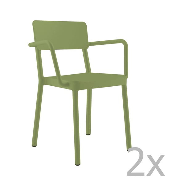 Lisboa zöld kerti fotel, 2 db - Resol