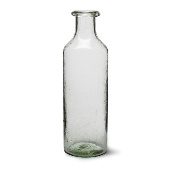 Váza z recyklovaného skla Bottle, 36 cm