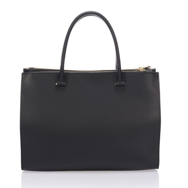 Kožená kabelka Krole Kate, černá