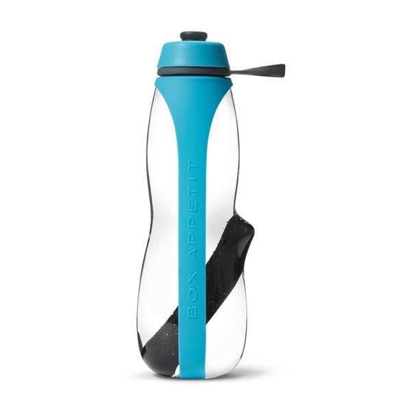 Szaro-turkusowa butelka sportowa filtrująca z aktywnym węglem Balck + Blum Eau Good Duo, 700 ml