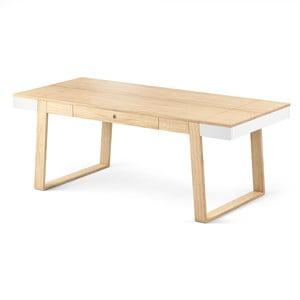 Jídelní stůl z dubového dřeva s bílými detaily Absynth Magh, 198x100cm