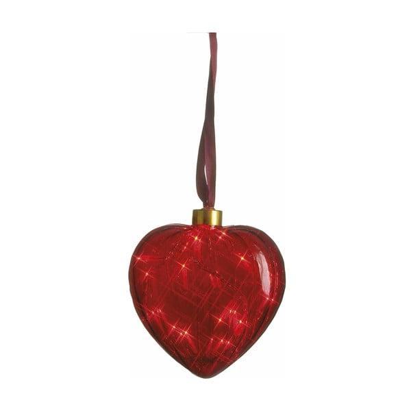 Svítící srdce Heart Red, 13 cm