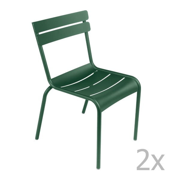 Sada 2 zelených židlí Fermob Luxembourg