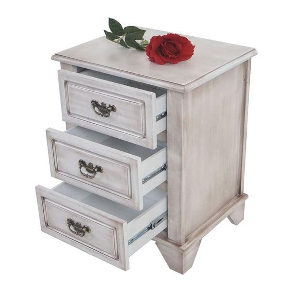 Skříňka se 3 zásuvkami Baroque Antique Grey