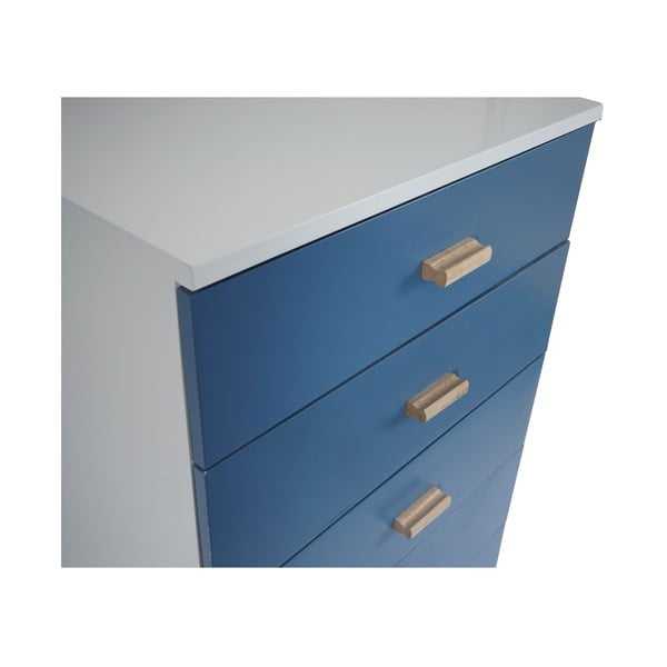 Komoda s pěti zásuvkami Vaasa Blue