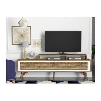 Comodă TV cu aspect de lemn de nuc Rosso