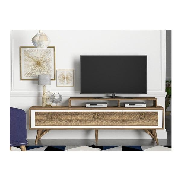 Szafka pod TV w dekorze drewna orzecha Rosso