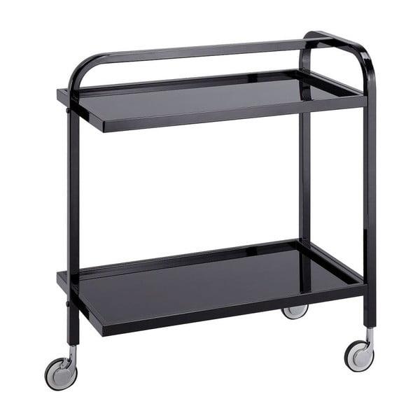 Černý pojízdný servírovací stolek Design Twist Kansk
