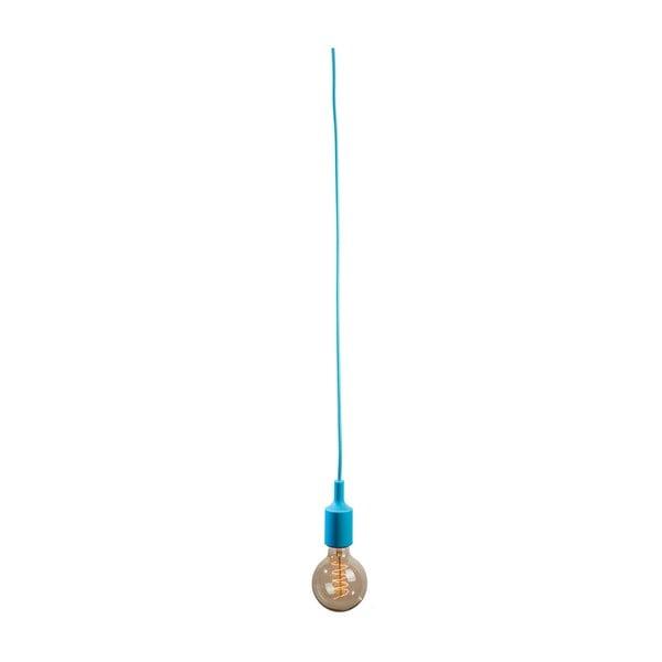 Textilní kabel s objímkou 1,5 m - světle modrý