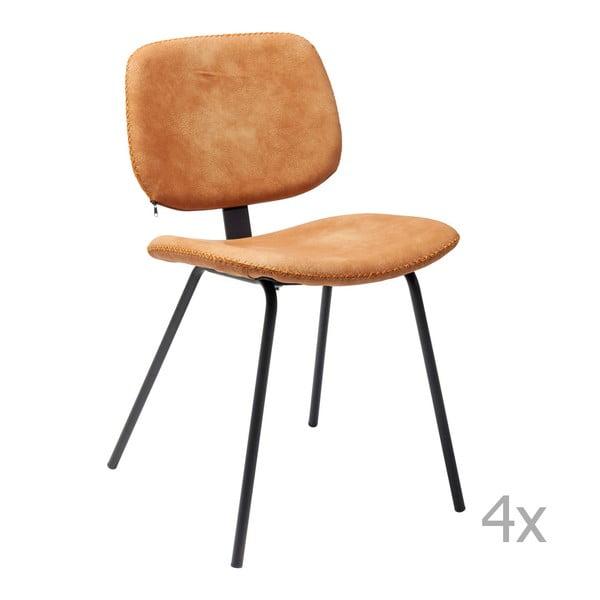 Set 4 scaune Kare Design  Barber, portocaliu