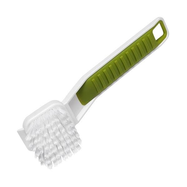 Zeleno-bílý kartáč na nádobí Addis Sink