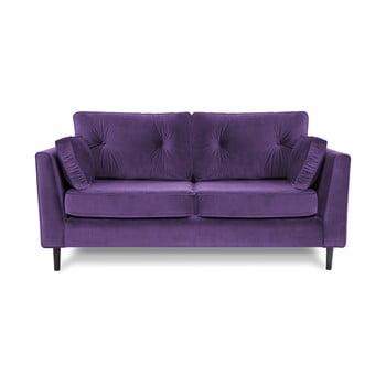 Canapea cu trei locuri VIVONITA Portobello, mov de la Vivonita