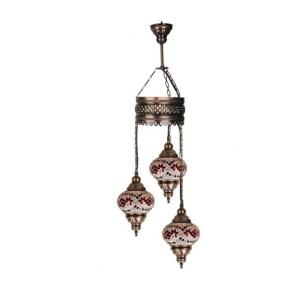 Skleněná závěsná lampa Three XIV, 13 cm