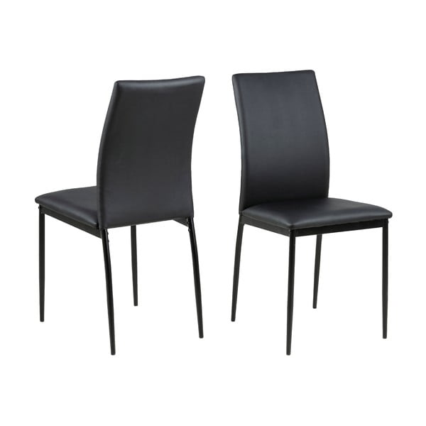 Černá jídelní židle Actona Demina