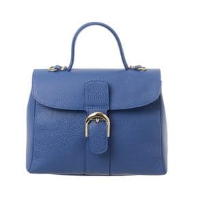 Modrá kožená kabelka Tina Panicucci Shool