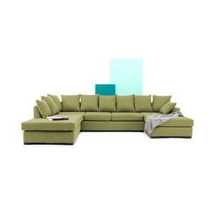 Canapea pe colț Vivonita Linus, verde