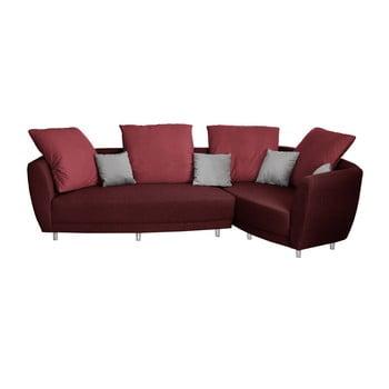 Canapea cu șezut pe partea dreaptă Florenzzi Viotti roșu