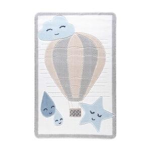 Dětský světle modrý koberec Confetti Cloudy, 133x190cm