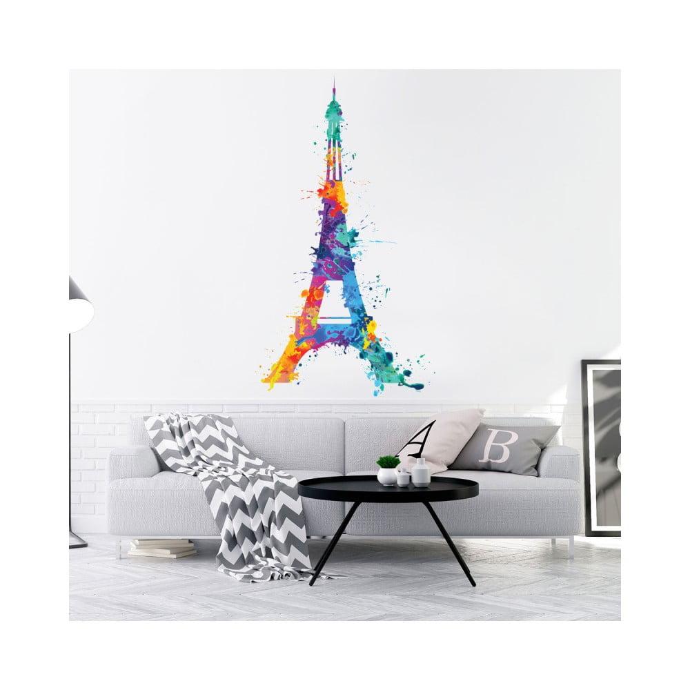 Nástěnná samolepka Ambiance Wall Decal Eiffel Tower Design Watercolor, 105 x 60 cm