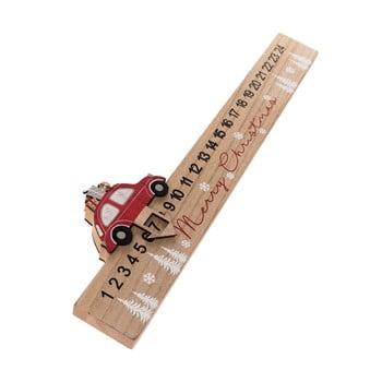 Calendar advent din lemn Auto Dakls, lungime 40 cm imagine