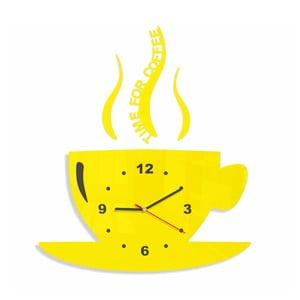 Hodiny z plexiskla Cup Yellow