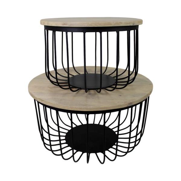 Sada 2 konferenčních stolků z mangového dřeva HSM collection