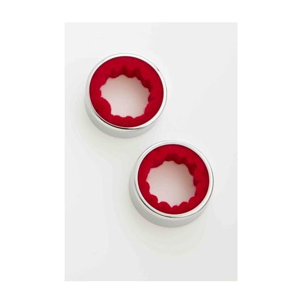 Zestaw 2 pierścieni na butelkę wina Steel Function Wine Rings