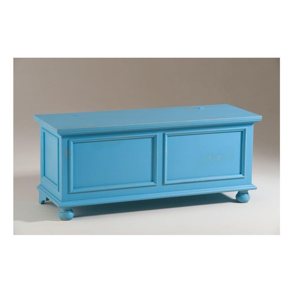 Modrá dřevěná truhla Castagnetti Chest