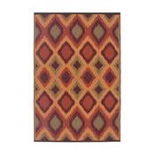 Oranžový oboustranný venkovní koberec Green Decore Diamond, 120 x 180 cm