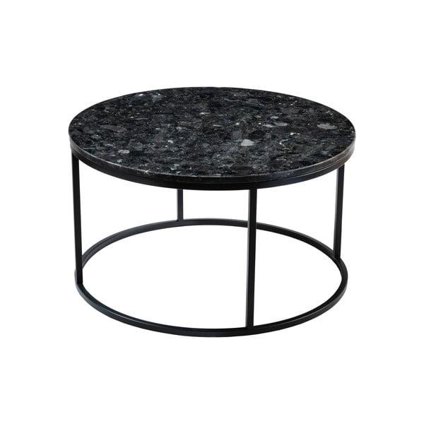 Czarny granitowy stolik RGE Black Crystal, ⌀ 85 cm