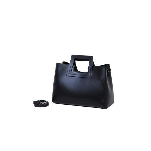 Černá kabelka z pravé kůže Andrea Cardone Pietro
