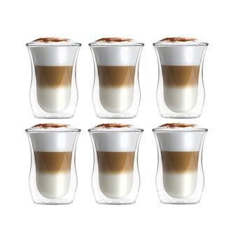 Set 6 pahare din sticlă dublă Vialli Design 300 ml