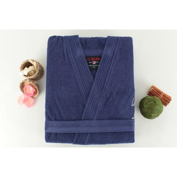 Halat baie pentru bărbați  U.S. Polo Assn. Uspa Violet Blue, măr. S/M