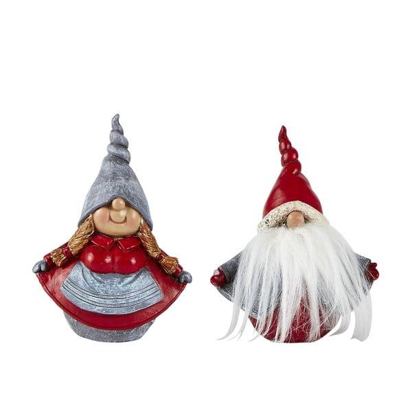 Sada 2 dekoratívnych vianočných sošiek KJ Collection Dwarfy, výška 12,5 cm