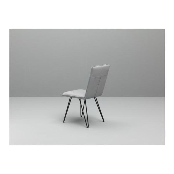 Sada 4 bílých jídelních židlí s černým podnožím Design Twist Elice