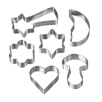 Set 6 forme pentru prăjituri din oțel inoxidabil Metaltex Cookie Cutters imagine