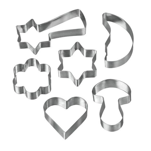 Sada 6 vykrajovátek z nerezové oceli Metaltex Cookie Cutters